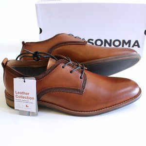 Sonoma Men's Brown Leather Dress Shoes Size 8
